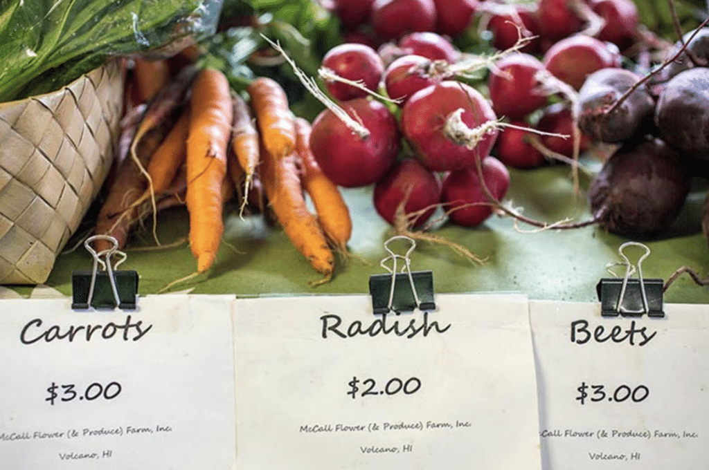 Grab your baskets and reusable bags and start your Sunday at the Volcano Farmers Market on Hawai'i Island.